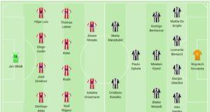 Atletico Madrid - Juventus - lineup