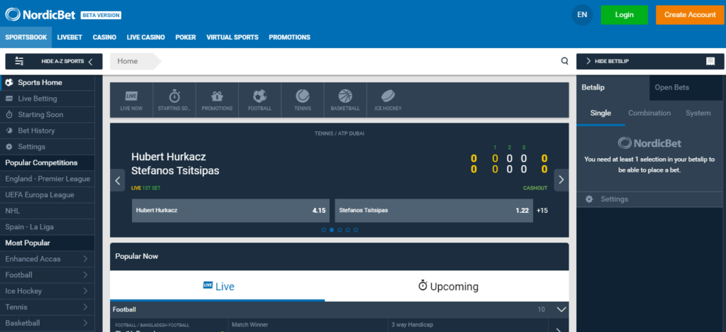 Nordic Bet Betting In Play