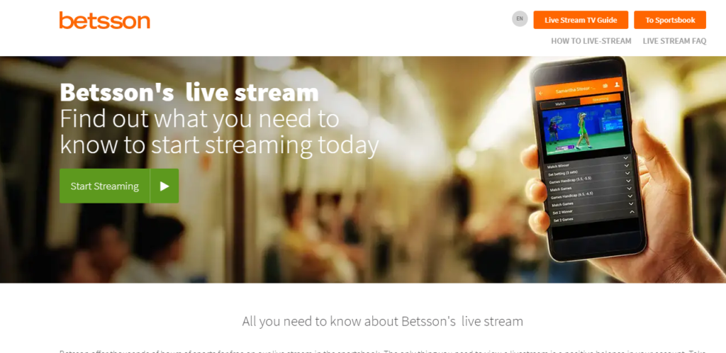 Betsson Live Streaming