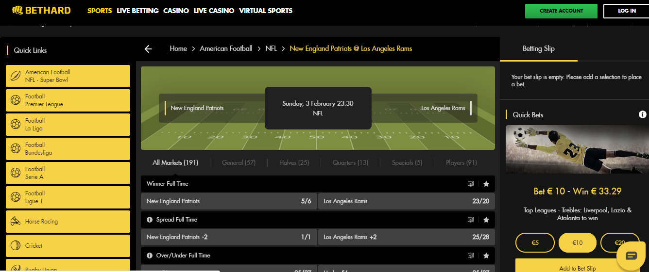 Sports Betting Quick Links